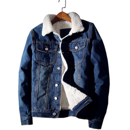 $enCountryForm.capitalKeyWord Australia - 2019 Winter New Fashion Boutique Wool Thick Warm Light Blue Mens Casual Denim Jackets   Slim Leisure Male Denim Jacket Men Coats