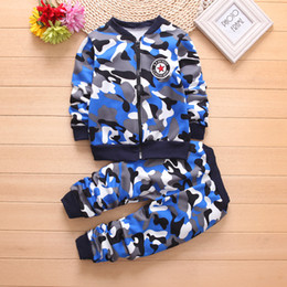 christmas clothes Australia - Fashion Style Winter Baby Girl And Boy Clothes Cotton Long Sleeve Christmas Children Clothing Boy Set Camouflage Costume For Kids Outfits Su