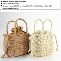 Woven easter baskets online shopping - New Bag For Women Rattan Straw Woven Bag Women Basket Shoulder Bag Tote Fashion Summer Beach Large Handbag Purse