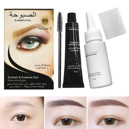 eyebrow tint gel UK - 2018 New Eyelash Eyebrow Dye Tint Gel Eye Brow Mascara Cream Brush Kit Waterproof WH998