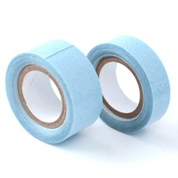 Adhesive Glue For Hair UK - Neitsi 1pc 1.27cm Blue# Lace Front Support Tape Glue Super Glue Tape For Hair Extensions Double Sided 3 Yards Wig's Tape Touppe's Adhesive