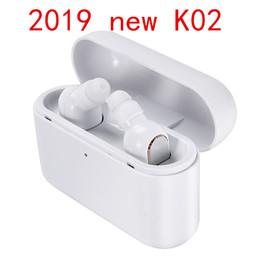 $enCountryForm.capitalKeyWord Australia - 2019 Hot sale Wireless Bluetooth headphones earbuds K02 Stereo Small Single Earphone with 1200mAh charging box Invisible Earpiece Headset