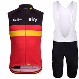 $enCountryForm.capitalKeyWord Australia - SKY team Sleeveless cycling jerseys Vest (bib)shorts sets men mountain bike clothing comfortable breathable Quick dry suit Ciclismo Hombre