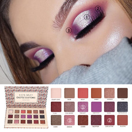 eye shadow 18 colors 2019 - HANDAIYAN 18 Color Eyeshadow Palette Powder Professional Make Up Palette Cosmetics Shimmer Matte Eye Shadow Kit discount