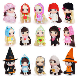 Model Figure Cartoon Girl Australia - Children's cartoon confused enamel dolls girls change doll toys 12 each suite suitable for doll enthusiasts over 5 years old