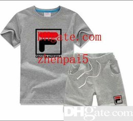 $enCountryForm.capitalKeyWord Australia - Summer Children s Clothing For Boys And Girls Short Sleeve Top pants Sports Suit Baby Infant Kids Clothes A213