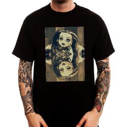 T Shirt Dolls Australia - Dark Side Doll Reflection Creepy Horror Trendy Men's Printed Cotton T-Shirt Top