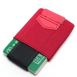 Discount magic wallets for men - New Creative Credit Card Holder With Elastic Band Slim Wallet For Women Man Small Magic Business Card Holder Case Unisex