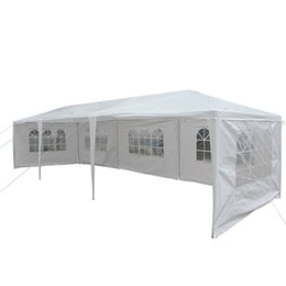 Wholesale 3X9m Five Sides Waterproof Folding Tent with Spiral Tubes White Color Canopy