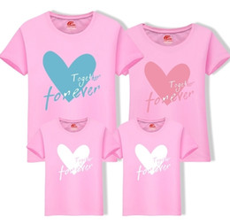 Wholesale 2019 New Summer Cartoon Mom Dad Daughters Boys Family T shirt Cotton O neck Tops One Piece For Father Kids Family Clothing Fy060
