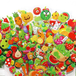 $enCountryForm.capitalKeyWord UK - 100Sheets lot Cute Fruits and Vegetables DIY Stickers Cartoon Children Food Stickers Toys PVC Scrapbook Gifts For Kids