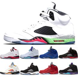 b768f3c8b441 Desinger 5s V Space Jam Mens Basketball Shoes Olympic Metallic Gold White  Cement white Grapes bred Red suede Oreo Sports Sneakers Shoes