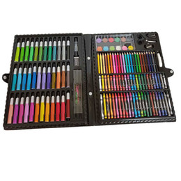 Crayons Paintings Australia - 150pcs set Drawing Pencils Crayons Colored Pencils Watercolor Markers Art Drawing Set Painting Supplies Gift for Kids