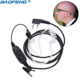 Radio tubes online shopping - Baofeng UV Dual PAir Acoustic Tube Headset Earpiece For BaoFeng UV UV HP UV HX GT TP Walkie Talkie ham radio