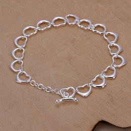 small chain links NZ - Hot sale best gift 925 silver Full Small Love Bracelet brand new fashion sterling silver plated Chain link bracelets