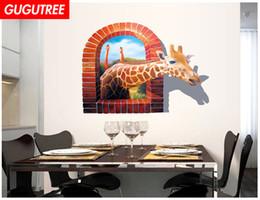 $enCountryForm.capitalKeyWord Australia - Decorate home 3D deer cartoon art wall sticker decoration Decals mural painting Removable Decor Wallpaper G-833