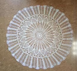 $enCountryForm.capitalKeyWord NZ - Hot Round Lace Cotton Crochet TaMulticolorble Cloth Towel Handmade Christmas Wedding Decor Characteristic White Party