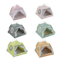 $enCountryForm.capitalKeyWord Australia - M L XL Pet Houses Foldable Pet Dog Cat Tent Kennels Winter Summer Bed Portable House with Net Outdoor Home Mesh Tent Houses