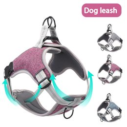 Wholesale Breathable traction rope collar dog chain pet supplies New dog leash strap dog pet chest strap vest type reflective chest back