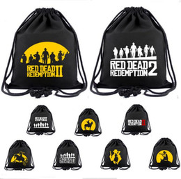 Woman Fans Australia - New Game Red Dead Redemption Canvas Backpack Teenager Fans Cosplay Drawstring Bag Men Women Drawstring Pocket Boys Girls Students Schoolbag