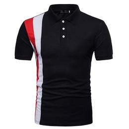 $enCountryForm.capitalKeyWord Australia - Mens Summer Designer Printed Polo Cotton Short Sleeve Sports Tees Fashion High Street Quickly Dry Clothing