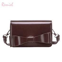 Big Bow Bag Australia - Vintage Fashion Ladies Mini Square Bag 2019 New High Quality Pu Leather Women's Designer Handbag Big Bow Shoulder Messenger Bags