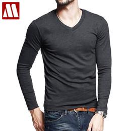 $enCountryForm.capitalKeyWord Australia - 2018 New Summer Tops Fashion Brand Cotton T Shirts for Men Fitness T-Shirt male V-Neck Long Sleeve T Shirt S - 5XL Free shipping