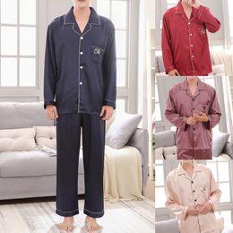 $enCountryForm.capitalKeyWord Australia - satin pajamas men homewear Casual Spring Pure Color Long-sleeved Comfortable Home Pyjamas Set night suit 2019 pijama hombre
