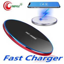 wireless power bank iphone Australia - Hot Alloy Power Bank Fast Qi Wireless Charger Charging Pad For Sansung Galaxy S9 S8 Plus Note 8 Iphone X 8 Quick Charger Induction
