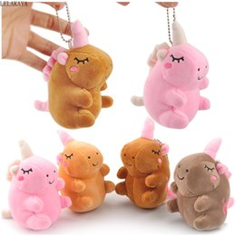 horse suit NZ - Unicorn Plush Keychains Bag Gift Fashion Horse Mini Creative Soft Stuffed Cotton Keychain Schoolbag Decoration Hanging Ornament