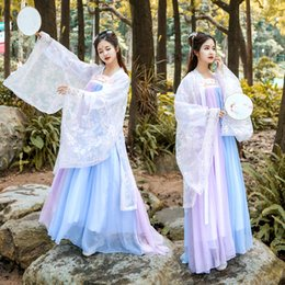 $enCountryForm.capitalKeyWord Australia - Women Hanfu National Costume Ancient Chinese Cosplay Clothes Chinese Folk Dance Costume Princess Tang Dynasty Stage Dress DL4133