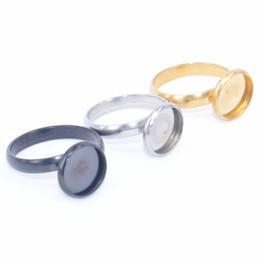 Rings bases online shopping - shukaki antique silver gold plated black mm cabochon ring blanks stainless steel adjustable bezel settings diy bases for rings making