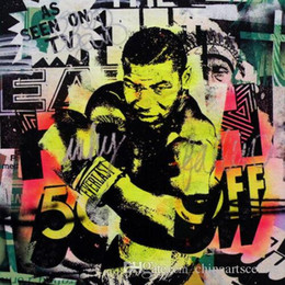 highest quality digital prints Canada - A. High Quality Mr Brainwash Handpainted & HD Print Abstract Graffiti Art Oil Painting Boxing Mike Tyson On Canvas Wall Art Home Deco g46