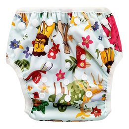 cute girls diapers NZ - Newborn Boys Girls Swimwear Kids Cute Cartoon Swimsuit For Baby Swimming Baby Trunks Beachwear Kid Bathing Swimming Diaper
