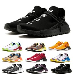 Chinese  2019 NMD Human Race Pharrell Williams Hu trail NERD Men Women Running Shoes XR1 Black Nerd Designer Sneakers Sports Shoes With Box manufacturers
