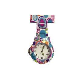 $enCountryForm.capitalKeyWord UK - New beautiful ladies nurse flower printing Acrylic plastic nurse watches doctor medical pastoral FOB pocket pin hang watches