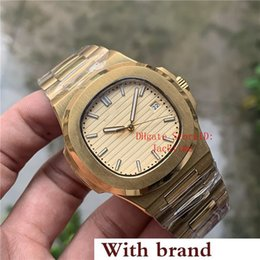 golden color watches Canada - New Luxury Watch Gold Dial Asia 2813 Movement 40mm 5711 1A 5711 Mechanical Transparent Golden Steel Automatic Mens Watches Wristwatches