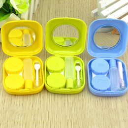gold contacts Canada - 10pcs Portable Contact Lens Kit Case Box Lens Storage Holder Container Complete Accessories C19041201