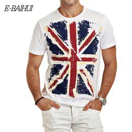 0e9aea5d451d E-BAIHUI summer Cotton shirts men Clothing Male Slim Fit t shirt Man Casual  brand T-shirts Swag mens tops tees Y001 Q190523