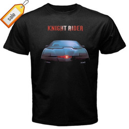 Tv T Shirts Australia - 2018 Summer Casual Man T Shirt KITT knight rider classic retro tv series T-Shirt Black Basic Tee