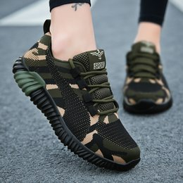 sports plus shoes NZ - Camouflage Women Fashion Sneakers Flying Knitting Flat With Casual Shoes Plus Size 35-44 Sport Breathable Women Trainers XU019 CY200519