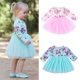 $enCountryForm.capitalKeyWord Australia - Infant Girl Solid Romper baby rompers summer baby girls Newborn Infant Girls Floral Princess Tulle Party Bubble Dresses