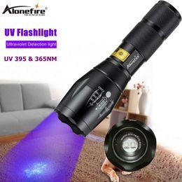 Uv led flashlight 365nm online shopping - E17 UV LED Flashlight nM nM W Power Aluminum Zoom Ultraviolet G700 Purple Flashlight Lamp Black Light Torch A100