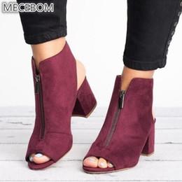 $enCountryForm.capitalKeyWord Australia - Spring Woman Sandals Ladies Shoes Gladiator Casual Peep Toe Antiskid Bottom Zipper Med Thick Heels Wedding Sandalias Mujer 6299w Y19070503