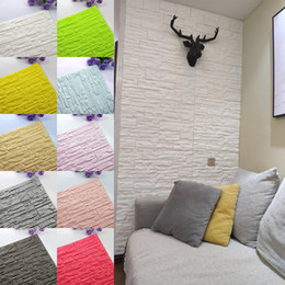 foam stickers for kids NZ - 70*77cm DIY Self Adhensive 3D Brick Wall Stickers Living Room Decor Foam Waterproof Wall Covering Wallpaper For TV Background Kids Room