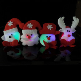 stuffed deer 2019 - LED Kids Sequin Christmas Handband Bracelet Wristband Cartoon Christmas Deer Santa Claus Snowman Pat Circle Party Suppli