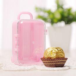 $enCountryForm.capitalKeyWord Australia - New Plastic Mini Travel Suitcase Shape Candy Box Favor Tin Box Sundries Organizer Container Wedding Party