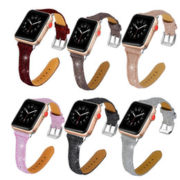 Wholesale Smart Watches Australia - Watch Band for Apple Watch Series 4 3 2 1 Strap for Iwatch 38mm 42mm Bracelet Smart Accessories Wrist bling For Apple Watch Bands 44mm
