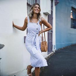 $enCountryForm.capitalKeyWord Australia - Button Womens Down Dress Fashion Striped Long Boho Dress Lady Beach Summer Sundrss Vestidos Mujer drop shipping designer clothes