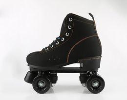 Adulte 2 rangs Patins Adulte Hommes Femmes flash Roller Skating Skate Bottes Sneaker Chaussures de sport en Solde